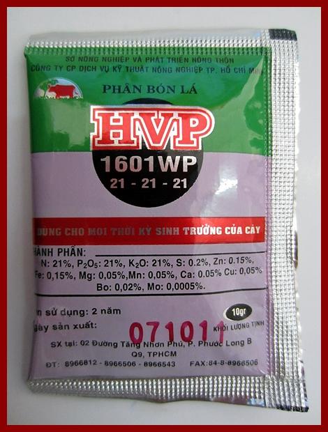 HVP 1601WP 21-21-21